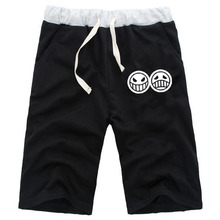 2018 Fashion Mens Casual Summer Shorts Anime One Piece Cotton Short Pants Jogger Fitness Knee Length Trousers High Quality