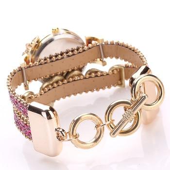 FanTeeDa Women's Fashion Love Word Leather Strap Bracelet Ladies Quartz Watches 5