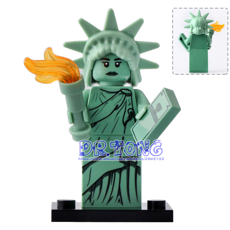 DR.TONG Single Sale XH495 Statue of Liberty Super Heros Inhumans Royal Family Building Blocks Toys Children Gifts