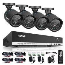 SANNCE 4CH CCTV System HDMI AHD CCTV DVR 4PCS 720P 1.0MP IR Outdoor Security Camera  Surveillance System