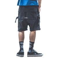 Cargo Loose Shorts Men Zipper Pocket Street Lay Low Mens Shorts Summer Tech Wear Short Masculina Academia Hip Hop Shorts 60D0023