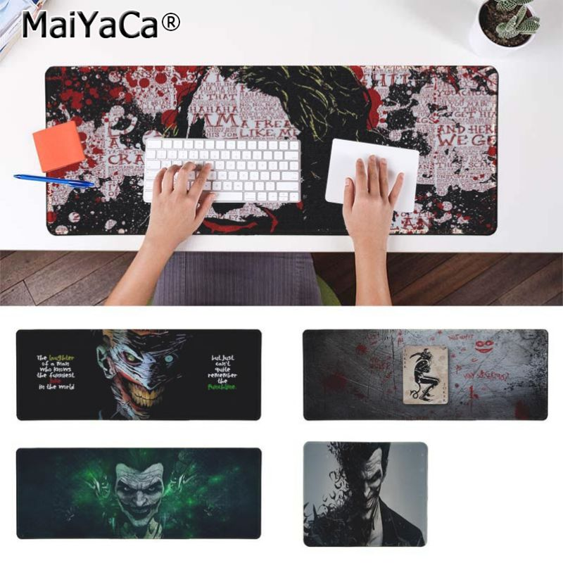 Yinuoda Funny Joker Keyboard Gaming MousePads Size for 180*220 200*250 250*290 300*900 and 400*900*2mm