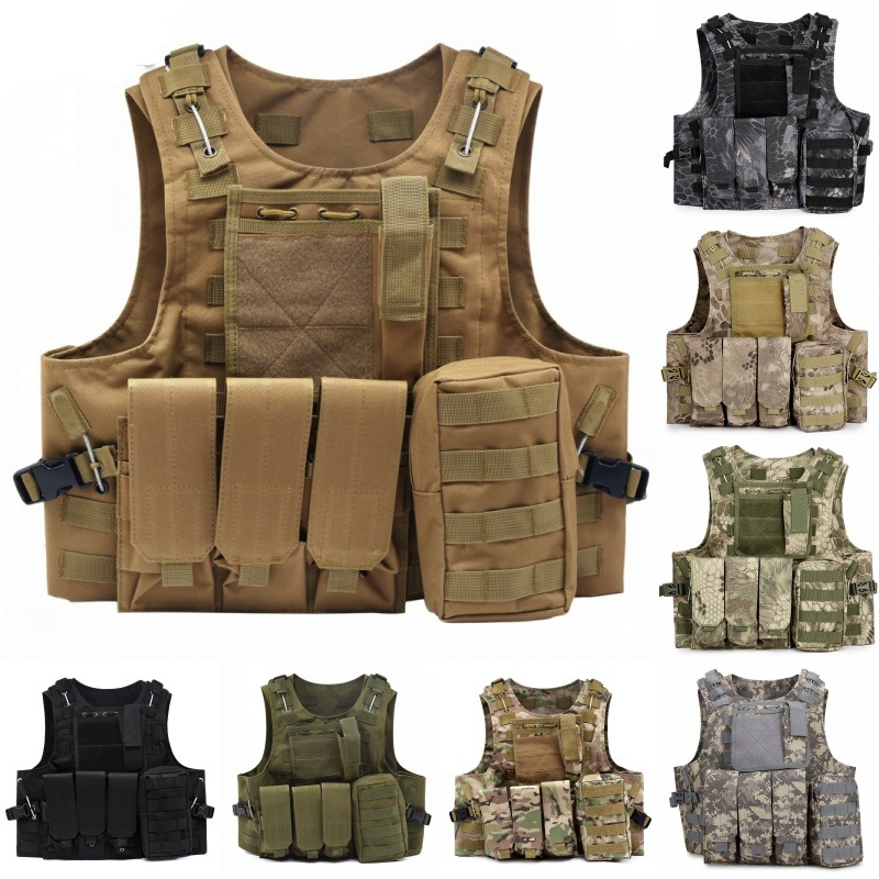 Tactical Molle Vest Military Army Airsoft Combat Assault Plate Carrier CS Outdoor Waistcoat Hunting Vest