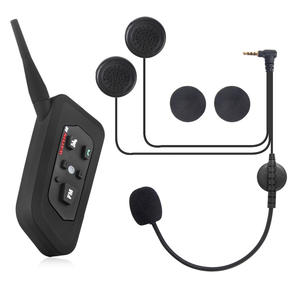 1PCS WAYXIN Motorcycle Intercom wireless Motorcycle Helmet intercom Bluetooth Intercom Moto Interphone 1200m helmet Headset