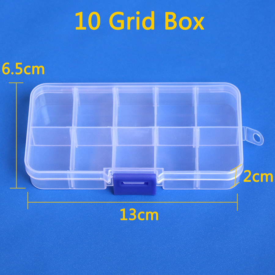 10 15grid Transparent Plastic Hardware Storage Components Box Tool Electronic Parts For Micro USB Jack Charging Socket Connector