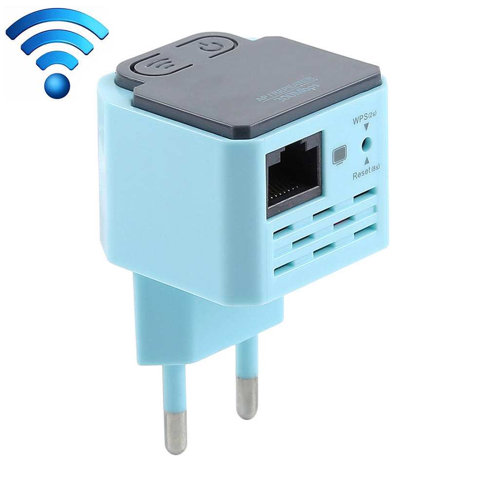 300Mbps WiFi Repeater Wireless Range Extender Signal Booster Amplifier Wall Mounted EU Plug Repeater(China)