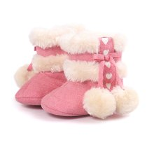 Warm Snow Baby Girl Boots Winter Soft Plush Booties Infant Anti Slip Snow Boots Shoes