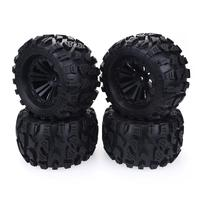 4PCS 125mm 1/10 Monster Truck Tire & Wheel Hex 12mm for Traxxas Tamiya Kyosho HPI HSP Savage XS TM Flux LRP