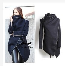 2015 plus size winter/sping  new women woolen coat windbreaker jacket Slim female wool Trench coats cardigan 9 colors