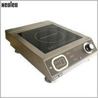 XEOLEO 3500 Вт индукционная плита Коммерческая Электромагнитная нагревательная плита из нержавеющей стали электромагнитная плита 6 файл Ручка