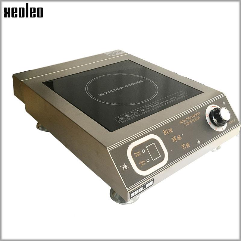 XEOLEO 3500 W cuisinière À Induction Électromagnétique Commercial Chauffage Cuisinière en acier Inoxydable Électromagnétique cuisinière 6 fichier Bouton type