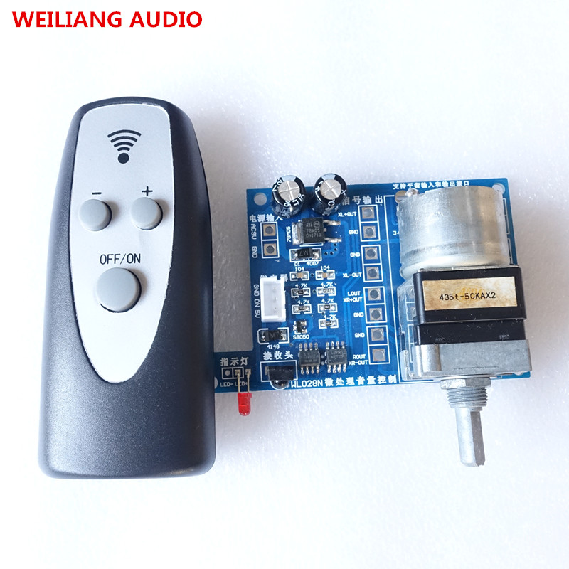 breeze audio Assembeld Remote control Volume adjust board For Audio amplifier preamp (50KA*2 or 100kA*4 ALPS) lite ga 5 4 alps remote volume control 4 ways board combined motor ac9 12v rca input