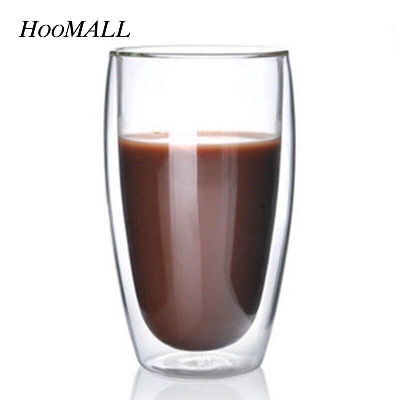 Hoomall 450ml <font><b>Double</b></font> <font><b>Wall</b></font> <font><b>Glass</b></font> Coffee <font><b>Mugs</b></font> Heat-Resistant <font><b>Transparent</b></font> Kitchen Drinkware Accessories Tea Cups Water Bottle <font><b>Mug</b></font>