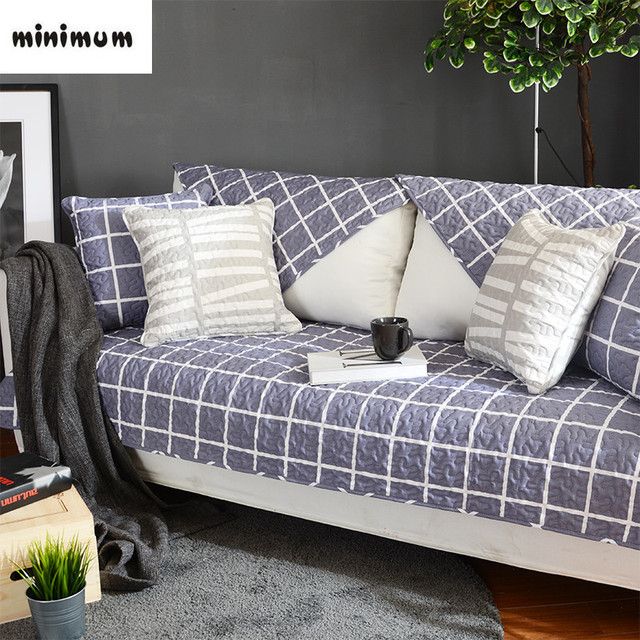 Nordic Four Seasons Common Sofa Cover Cushion Mats Colorful Modern Combination Sets Slipcover Cotton