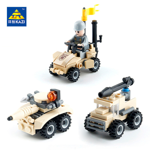 Конструктор Кази военные самоходное противотанковое орудие автомобилей модели автомобиля грузовика армии Brinquedos образовательные игрушки ...