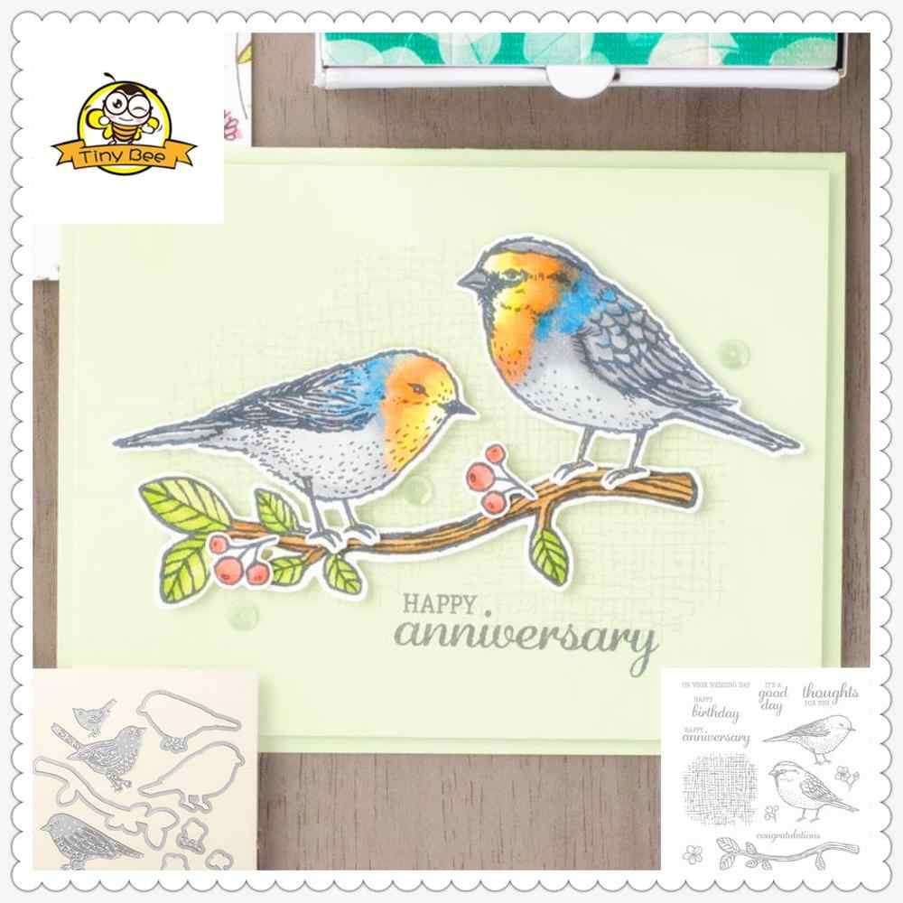 Animal Bird Dies Cut Metal Cutting Dies for Scrapbooking  Clear Stamps and Die Sets DIY Card Making Cutting Crafts Stencil Dies