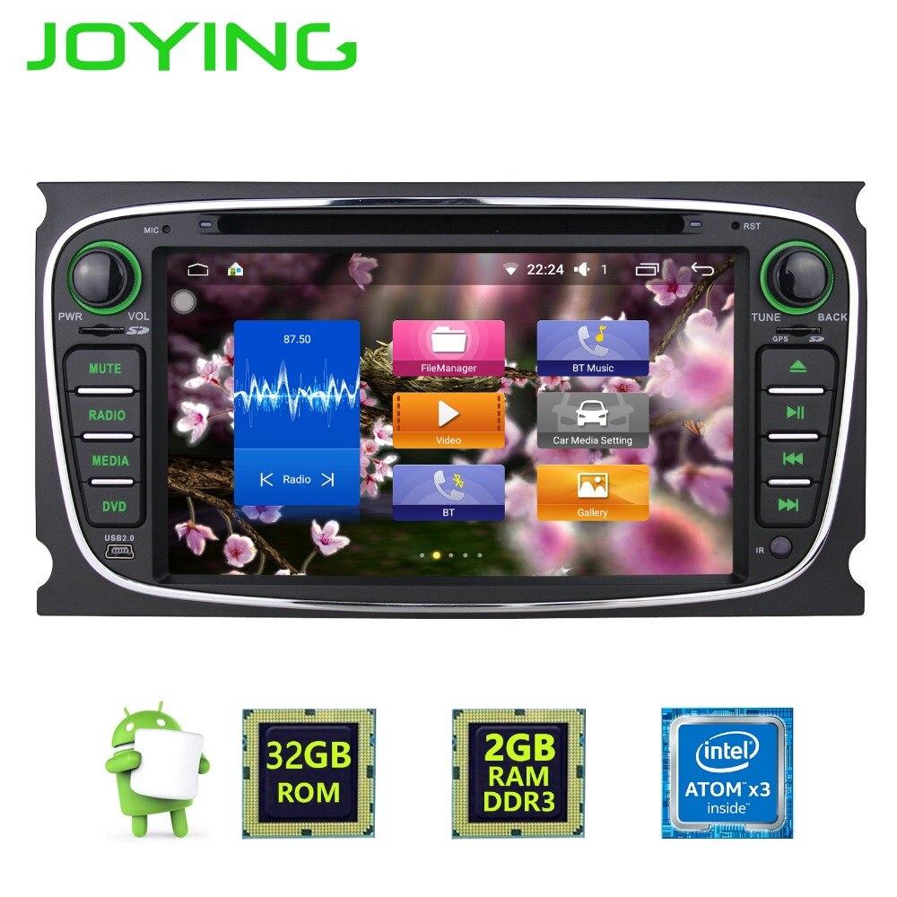 7 «радуясь 2 din 2 ГБ + 32 ГБ Android 6.0 1024*600 автомобилей GPS Navi мультимедийный плеер для Ford Focus Mondeo аудио Радио стерео Штатная