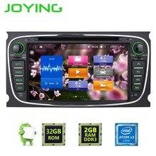 """7 """"Joying 2 Din 2 GB + 32 GB Android 6.0 1024*600 Del GPS Del Coche de Navi Reproductor Multimedia Para Ford Focus Mondeo Radio Estéreo de Audio Cabeza unidad"""