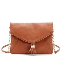 2016 neue Designer Marke Frauen Taschen Quaste Crossbody-tasche Weibliche Leder Handtasche Kette Schulter Umschlag Kupplung Geldbörse B015