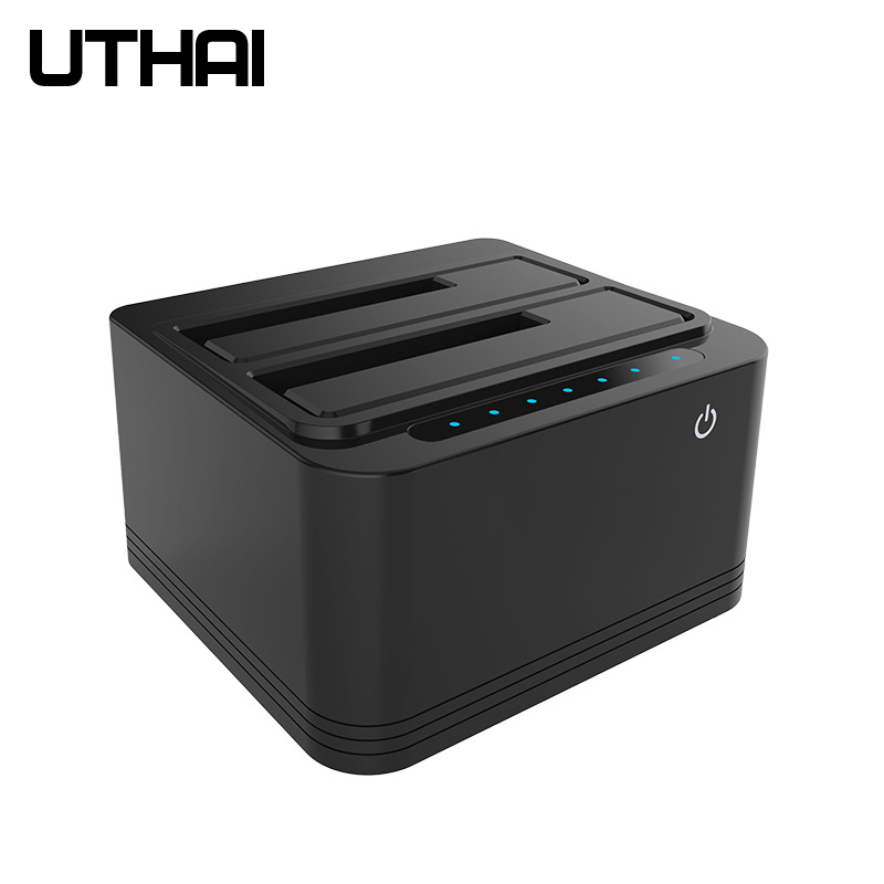 UTHAI G04 Multi-Function Dual-Slot USB3.0 Hard Drive Base 2.5/3.5 Inch Hard Disk HDD Offline Copy Cloner