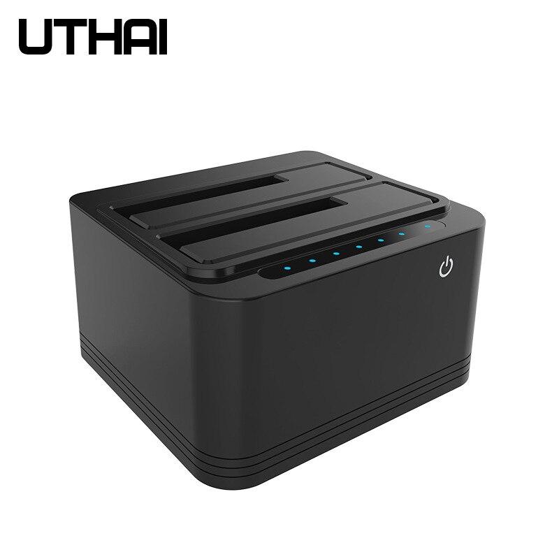 UTHAI G04 multi-fonction double-Slot USB3.0 Base de disque dur 2.5/3.5 pouces disque dur HDD hors ligne copie Cloner