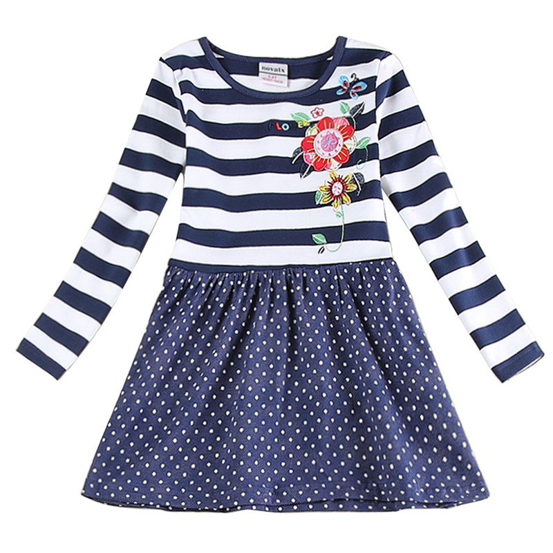 Girl Dress Baby Clothing Princess Dresses Nova Brand Kids Clothes Stripes Polka Dots Girls Fashion Party Girls Dresses H5908 neutrik ne8fdp b