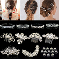 Flower Crystal Hair Clips Popular Wedding Bridal Pearl Rhinestone Hair Pins Bridesmaid Clips Hairwear Hair Accessories for Women