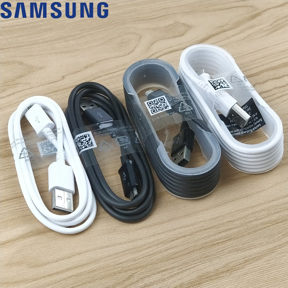 Original Samsung Micro Usb Charger Cable Galaxy note 4 5 S4 S6 S7 Edge A3 A5 A7 J3 j5 J7 Quick fast 2A 100/150cm Power Cable