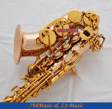 Rose Brass Curved Soprano Saxophone Bb key to High F key and G Key
