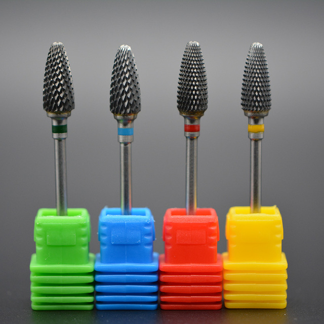 MAOHANG 1pcs Tungsten Carbide Cutter Burrs Nail Drill Bit Metal Bits For Electric Manicure Nail Drill Accessories 5