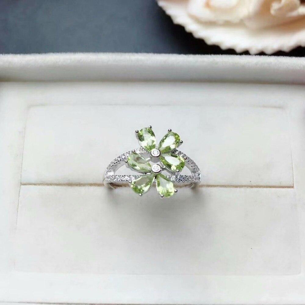 SHILOVEM 925 argent sterling péridot anneaux classique bijoux fins femmes fête cadeau de noël en gros nouveau mj030509agg