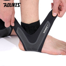 AOLIKES Fitness Ankle Brace Ankle Strap Gym ankle Protection Running Sport Support Guard Foot Bandage Elastic Black univers