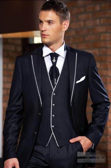 2018 New Style Blue Groom Tuxedos Groomsmen Men S Wedding Suits Best Man Formal Business