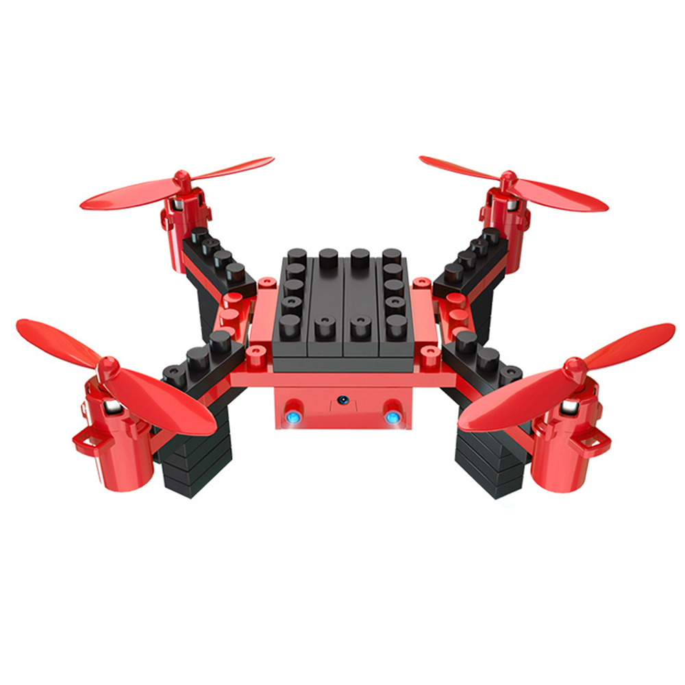 Building Blocks RC Drone with Camera 6 Channel RC Assembling DIY Blocks Quadcopter Building Brick Helicopter Toy for Kid