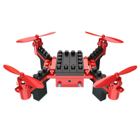 HELIWAY Building Blocks RC Drone With Camera 6 Channel RC Assembling DIY Blocks Quadcopter Building Brick
