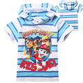 2016 Summer Kids T Shirt Boy Short Sleeve Cartoon dog Pattern Printing Striped Shortsleeved T-shirt Baby Clothing Boy T-Shirts