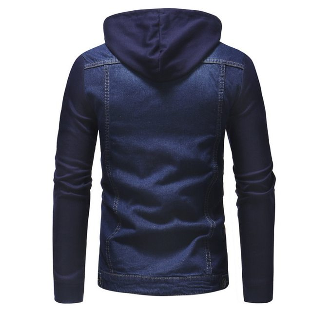 HEFLASHOR New 2018 Men Jeans Jackets Men Hooded Autumn Winter Coat For Male High Quality Fashion Classic Solid Clothes