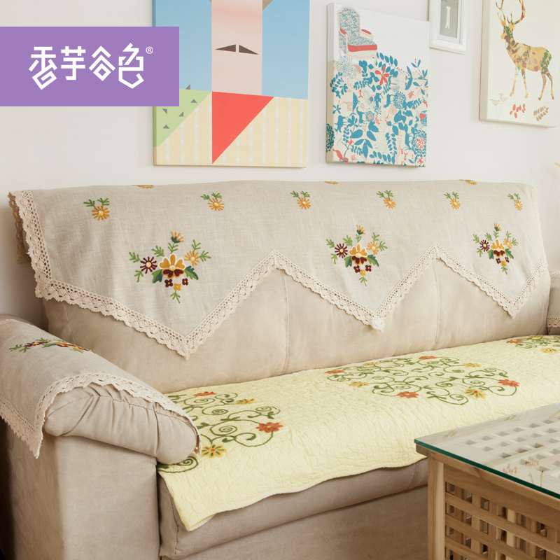 Handmade Crochet Fabric Sofa Cover Towel Continental Back Garden Armrest Cotton In From Home On Aliexpress