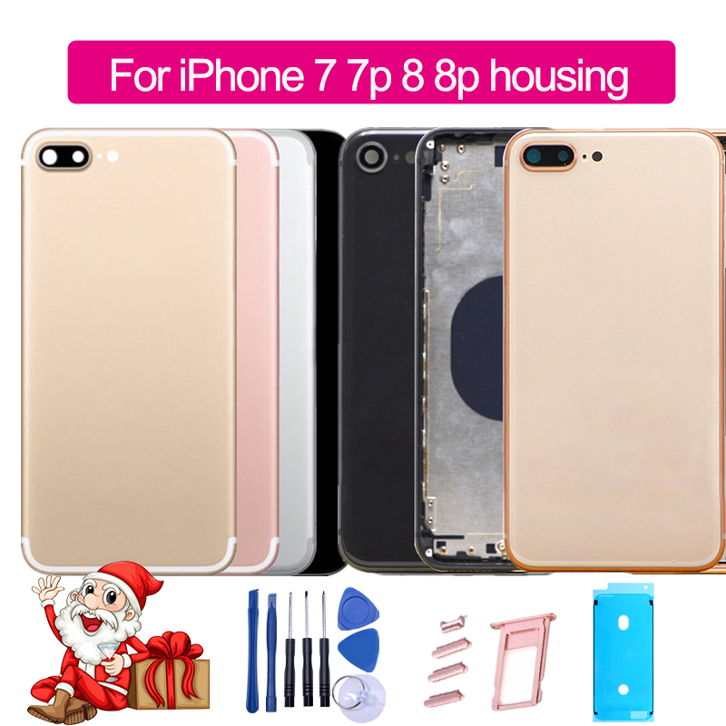 Housing Customized iPhone 8 Battery-Cover Glass-Body Back IMEI 8plus for with Logo Side-Button