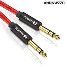 6.5mm Jack Audio Cable Nylon Braided 6.35 Jack Male to Male Aux Cable 1m 2m 3m 5m for Guitar Mixer Amplifier Bass 6.35 mm