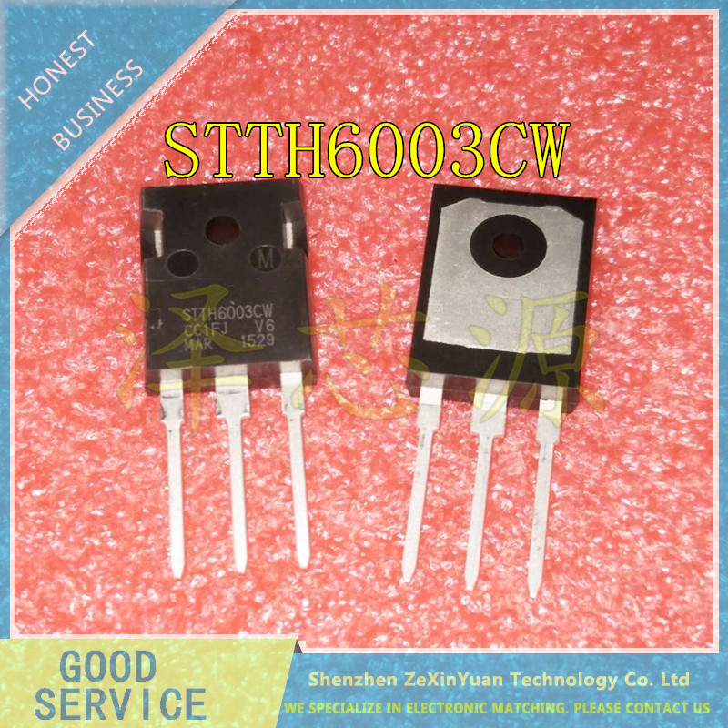 20PCS/LOT STTH6003 STTH6003CW TO-247 HIGH FREQUENCY SECONDARY RECTIFIER BEST QUALITY