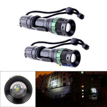 Super Bright LED Flashlight Zoomable Torch 1600LM 7W Waterproof safe and 18650 lamp Flashlights