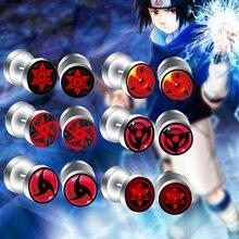 12pcs/Lot 1.2MM/16G Naruto Sharingan Eyes Logo earrings