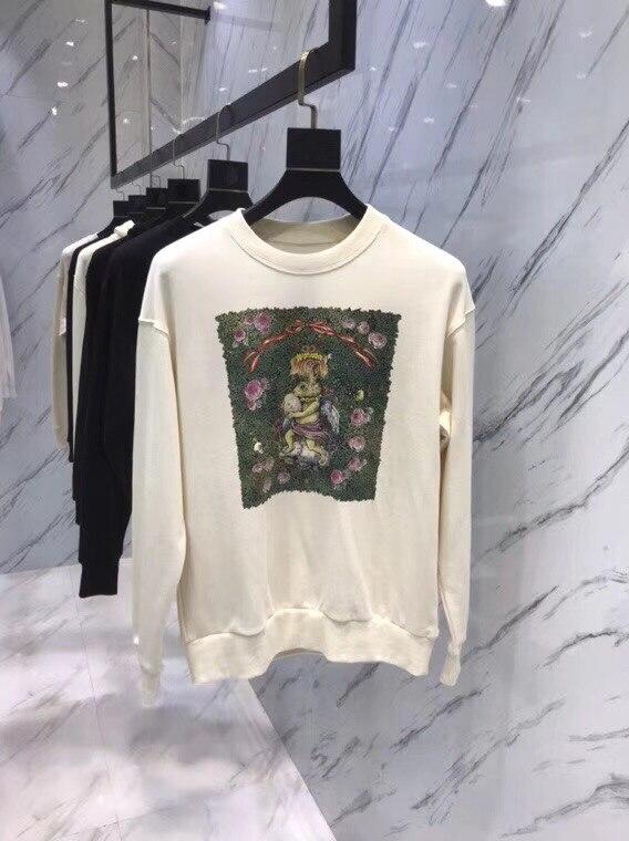 WB07165BA Fashion women's Hoodies & Sweatshirts 2018 Runway Luxury Brand European Design party style women's Clothing