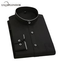 2018 Casual Solid Men Dress Shirts Long Sleeve Spring Autumn Summer Men S Shirts Business Clothes