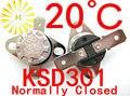 KSD301 20 graus C 10A 250 V Interruptor de Temperatura Normalmente Fechado Termostato KSD-301 x 10 PCS FRETE GRÁTIS