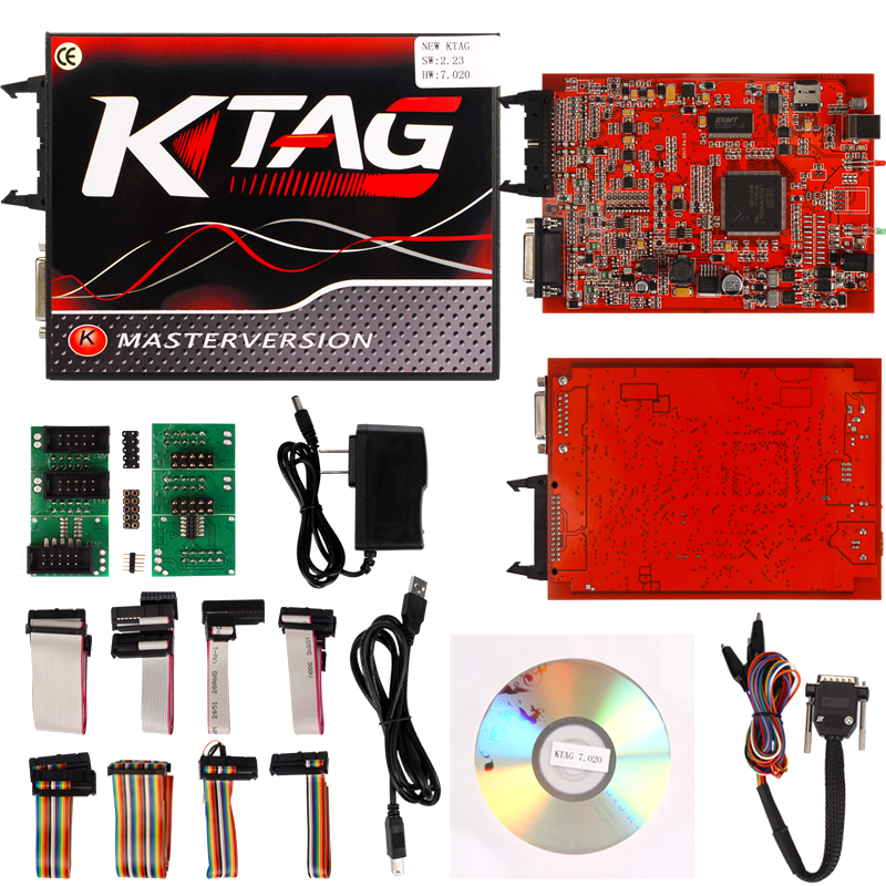 Online Ktag K TAG V7.020 KESS V2 V5.017 SW V2.23 Master ECU Chip Tuning Tool KTAG 7.020 Red PCB No Token Limited цена 2017