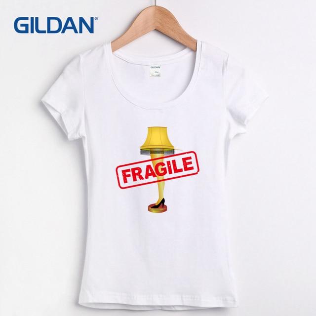 selling tee shirts o neck christmas story leg lamp fragile femme t
