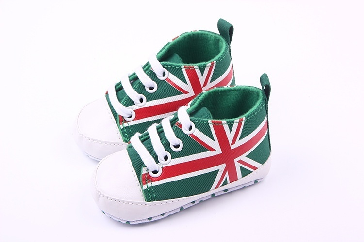 Children Kids Girls Boys First Walkers Shoes Non-Slip First Walkers Newborn Infantil Flag Baby Toddlers Birthday Gift -17 M09