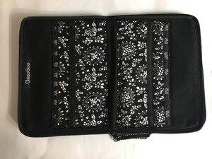 Image 2 - Estojo de agulha para cosméticos, bolsa intercalável com estampa de agulhas para armazenar pincel de maquiagem, tricô e maquiagem, 25.3cm * 15.3cm
